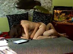 Living room sex on hidden camera