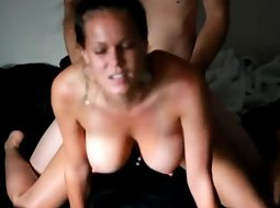Hottie fucked to a big orgasm