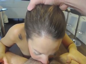 Slut gets gagged by dick and anally fucked