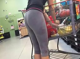 Watching her shop for groceries