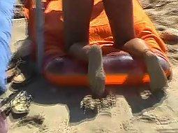 woman on a nudist beach