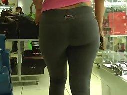 Voyeur films a butt in close up