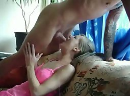 Shy girl gets fucked in the throat