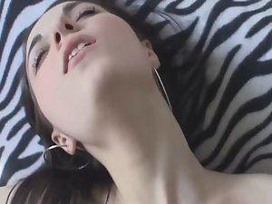 Young babe moans with dick in her ass