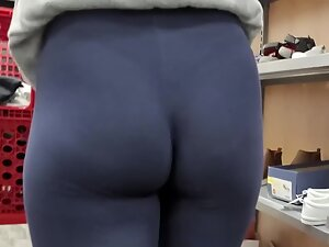 Checking out her thong and petite ass