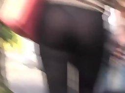 See through leggings of a hot girl