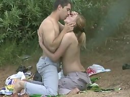 Making out and fucking by the lake