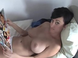 Girlfriend loves showing off big tits