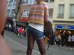 Young girl in pantyhose