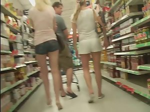 Sexy family shopping together