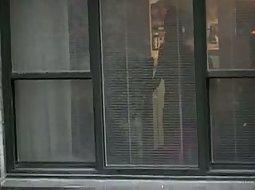 Peeping on a neighbour girl