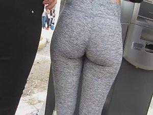 Stunning party girl's heart shaped ass