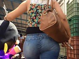 Latina girl buying a pinata