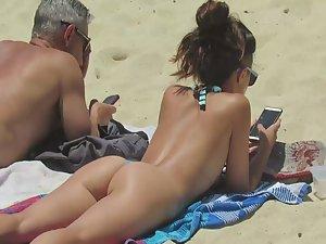 Amazing girls all around beach