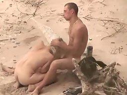 Teens caught fucking on the beach