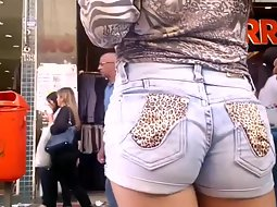 Closeup of a hot ass in shorts