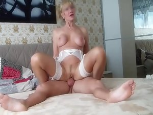 Fancy milf fucks with much younger lover