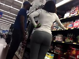 Black booty in the supermarket