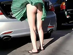 Windy day for such a light skirt