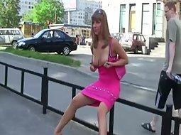 Sexy girl doing a daring photoshoot