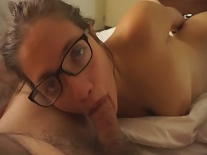 Amazing blowjob all the way to pubes