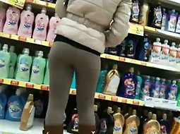 Hot girl in the super market