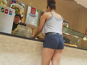 Peeping on ass while she orders food