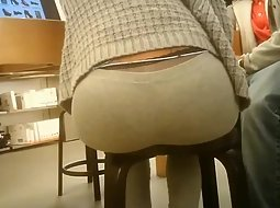 Nice ass of a girl sitting down