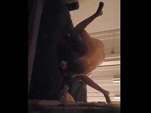 Peeping on white guy banging his black girlfriend