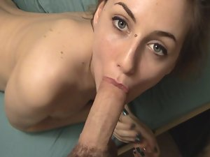 Mouth fuck got her gagging