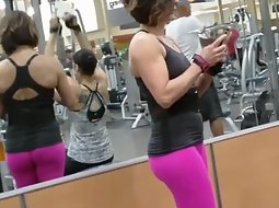 Strong sexy girl at the gym