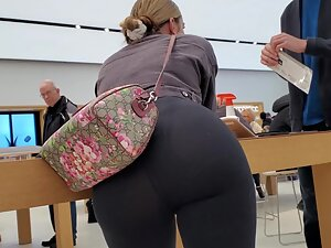 Amazing big butt in bent over pose