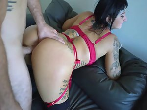 Punk girl pacified with hard dick in ass