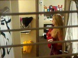 Teen girl peeped through the window