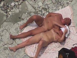 Horny wife fucked on beach