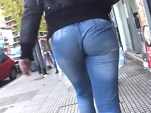 Her jeans aren't designed to be this tight