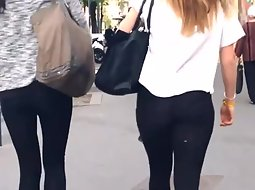 Two chicks in black tights
