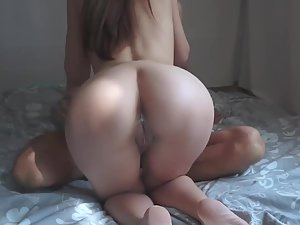 Graceful girl enjoys sex with a big fat cock
