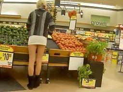 Hot girls around the supermarket
