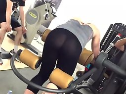 See through tights of a gym girl
