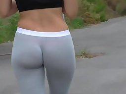 Crazy good ass of a jogging girl