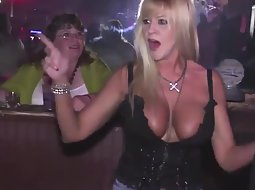 Milf dances and her tits fall out