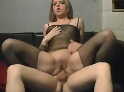 Girl in lingerie does anal