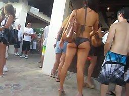 Hottest ass on an after beach party