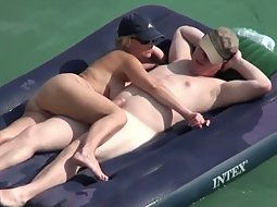 Sexy time on a big air matress