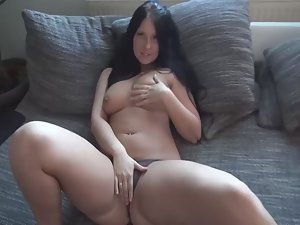 Chubby girl teases and gets fucked