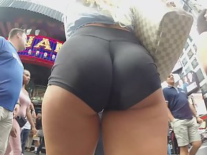 Awesome butt with clenched cheeks