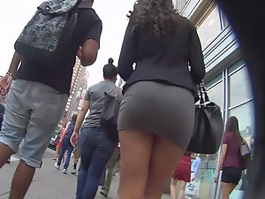 Miniskirt gets tugged all the time