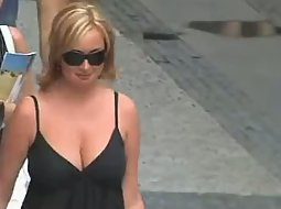 Pretty boobs on the street