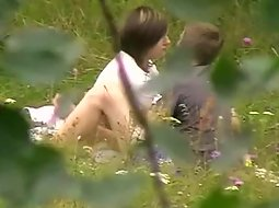 Teens making out in the nature